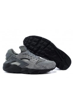 Кроссовки Nike Air Huarache Grey Suede (О-711)