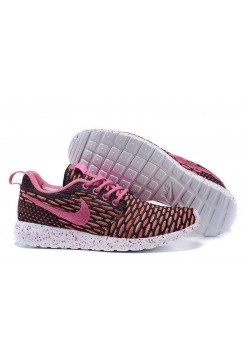 Кроссовки Nike Roshe Run Flyknit London Pink (О-521)