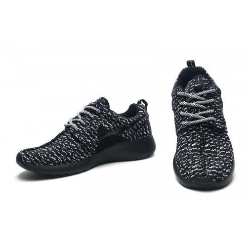 Кроссовки Nike Roshe Run Flyknit Turtle Black (О-514)