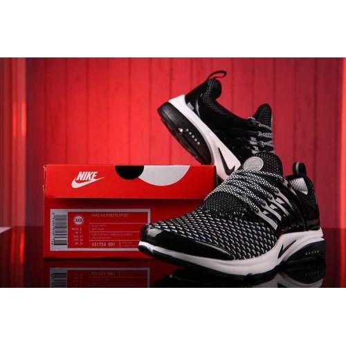 Кроссовки Nike Air Presto Flyknit Weaving Black White (О-211)