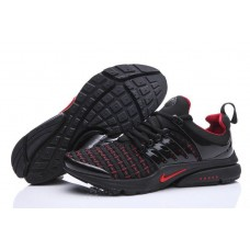 Кроссовки Nike Air Presto Flyknit Weaving Black Red (О-214)