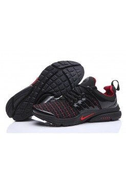 Кроссовки Nike Air Presto Flyknit Weaving Black Red (О-214)