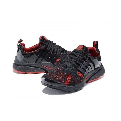 Кроссовки Nike Air Presto Flyknit Black Red (О-216)