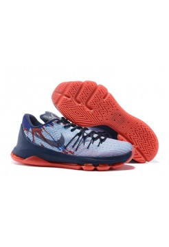 Кроссовки Nike KD 8 White Blue Red (O-325)