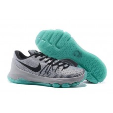 Кроссовки Nike KD 8 Grey Black Light Blue (O-327)