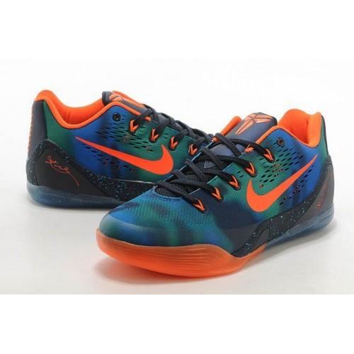 Кроссовки Nike Zoom Kobe 9 Сине/оранжевые (О-354)