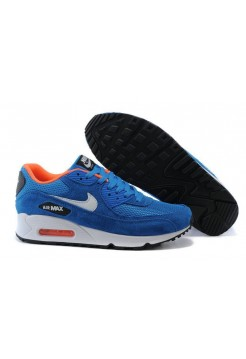 Кроссовки Nike Air Max 90 Essential Dark Electric Blue Light Stone Anthracite (О-321)