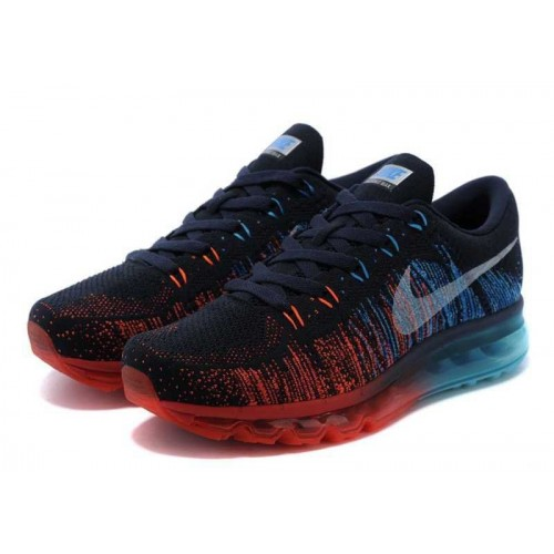 Кроссовки Nike Air Max Flyknit Navy Red (О-624)