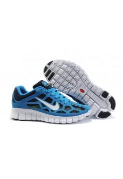 Кроссовки Nike Free Run Plus 3 Синие (О-731)