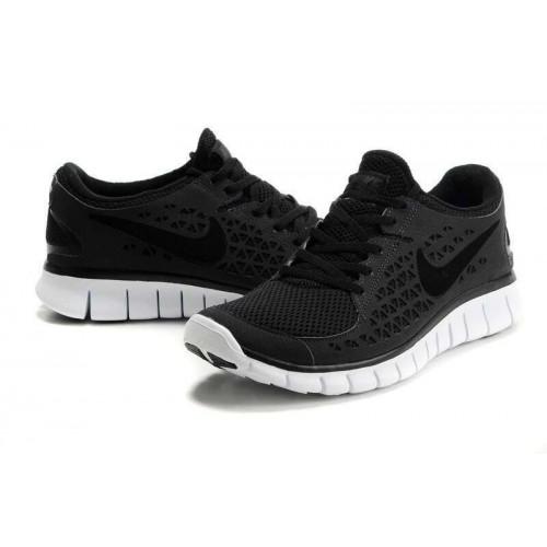 Кроссовки Nike Free Run Plus Черные (О-351)