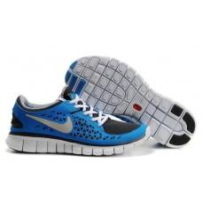 Кроссовки Nike Free Run Plus Синие (О-352)
