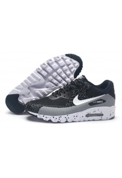 Кроссовки Nike Air Max 90 MD Flyknit Black Grey (О-351)