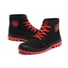 Ботинки Palladium Pampa Hi Black Red (О-211)
