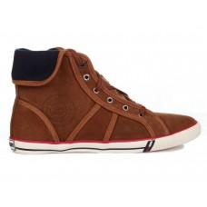 Кеды T&J Shoes Company Высокие Коричневые (О-324)