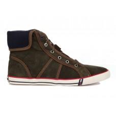 Кеды T&J Shoes Company Высокие Коричневые (О-325)