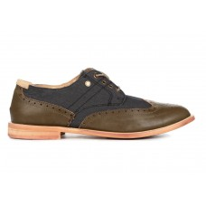 Туфли T&J Shoes Company Черно/зеленые (О-313)
