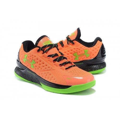 Кроссовки Under Armour Curry One Low SC30 Orange Lime Green