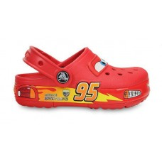 Шлепанцы Crocs Cars CrocsLights Clog Red LED