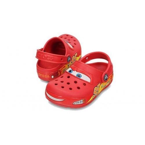 Шлепанцы Crocs Cars CrocsLights Clog Red LED