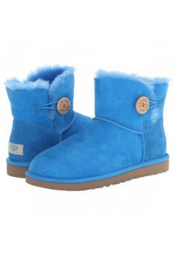 UGG Mini Bailey Button Light Blue (О-356)