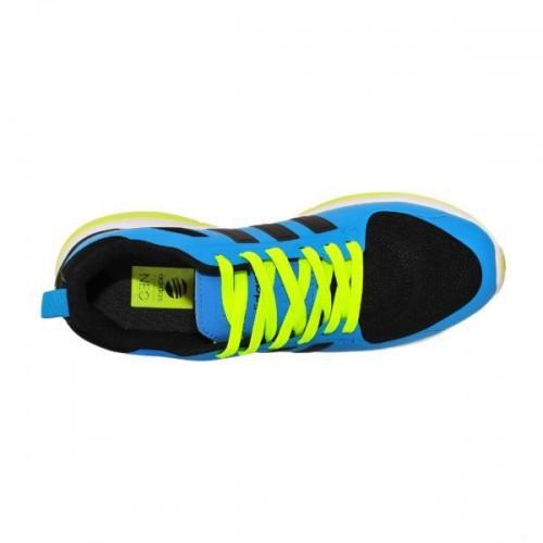 Кроссовки Adidas Neo Син-салат (М-614)