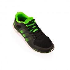 Кроссовки Adidas Neo Черн-салат (М-615)