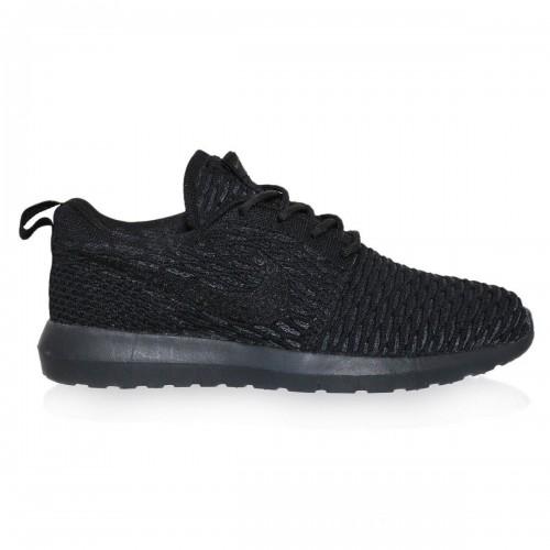 Кроссовки Nike Roshe Run Flyknit Черный Вязаный (М-511)