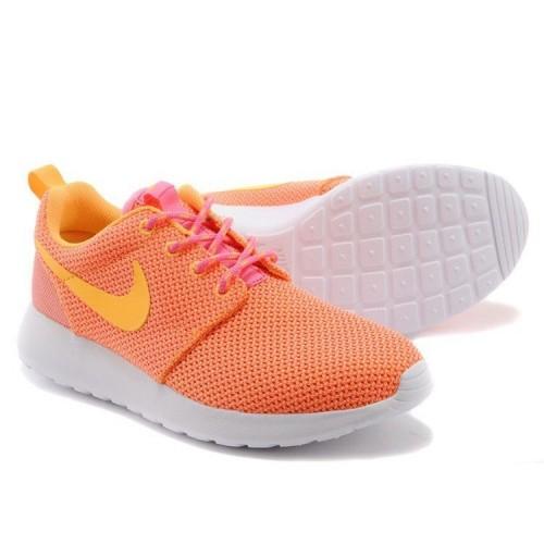 Кроссовки Nike Roshe Run Оранжевый (М-512)
