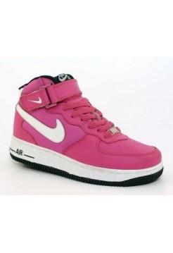 Кроссовки Nike Air-Force High Розовый (М-211)