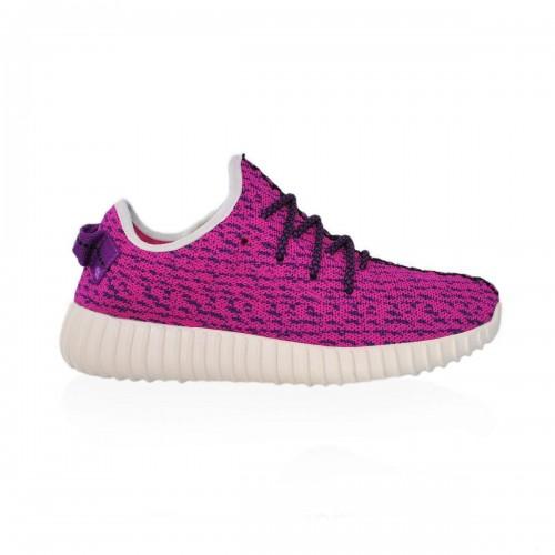 Кроссовки Adidas Yeezy Boost 350 Малиновый (М-271)