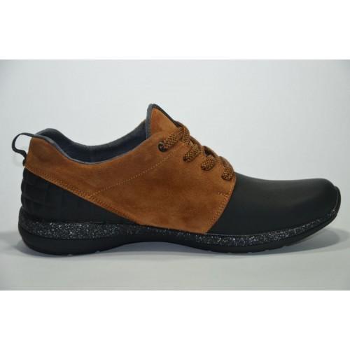 Кроссовки Nike New Mercury Черно/коричневые (Y-213)