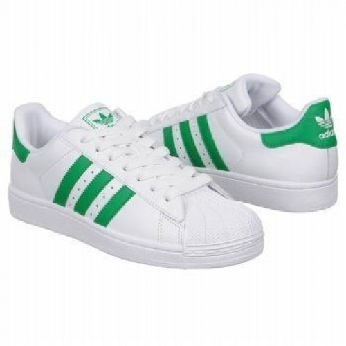 Кроссовки Adidas Superstar White/Green (ЕМ124)