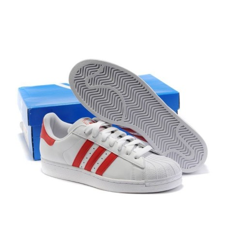 Кроссовки Adidas Superstar White/Red (Е-125)