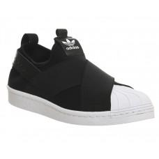 Кроссовки - слипоны Adidas Superstar Slip On Black (Е-127)