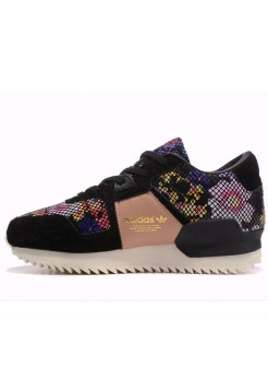 Кроссовки Adidas ZX 700 Originals Remastered Black Floral  (Е-212)