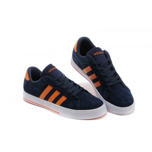 Кроссовки Adidas Neo Daily Navy/Orange (Е-352)