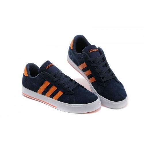 Кроссовки Adidas Neo Daily Navy/Orange (Е-352)