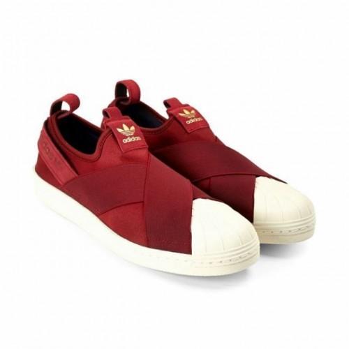 Кроссовки - слипоны Adidas Superstar Slip-on Bordo (Е-128)