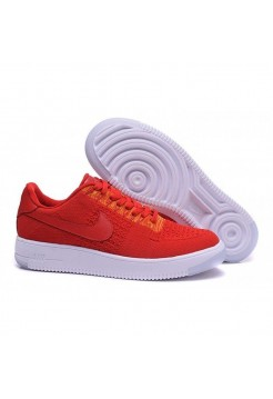 Кроссовки Nike Air Force 1 Ultra Flyknit Low Red (Е-121)