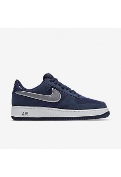 Кроссовки Nike Air Force Blue Suede (Е-123)
