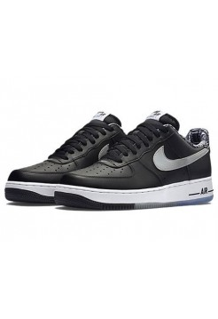 Кроссовки Nike Air Force Black/Grey (Е-125)