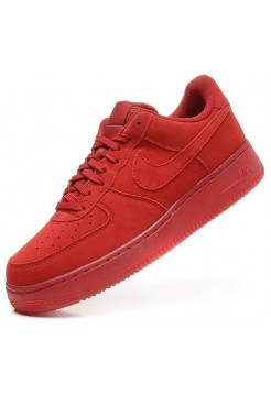 Кроссовки Nike Air Force Low All Red (Е-224)