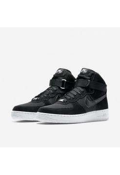 Кроссовки Nike Air Force High Black Suede (О273)