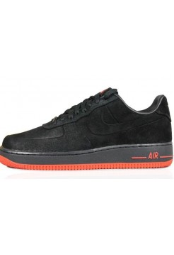 Кроссовки Nike Air Force Low VT Vac Tech Premium Black Orange (Е-274)