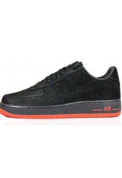 Кроссовки Nike Air Force Low VT Vac Tech Premium Black Orange (Е-274)
