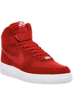 Кроссовки Nike Air Force High Red Suede (Е-473)