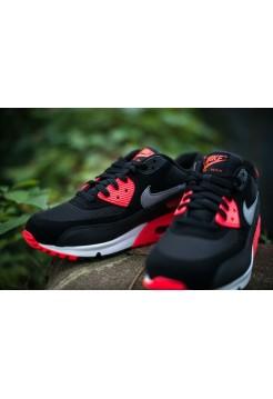Кроссовки Nike Air Max 90 Premium Черно/красный (ЕА124)