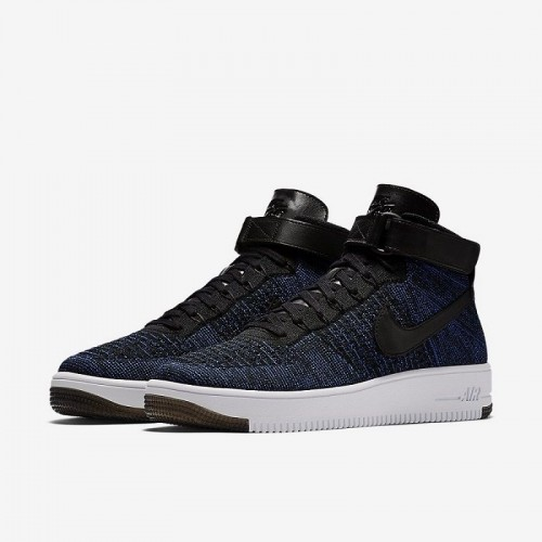 Кроссовки Nike Air Force Ultra Flyknit High Game Royal (А278)