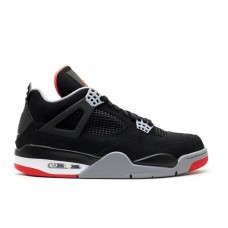 Кроссовки Nike Air Jordan IV Retro Black/Red (Е-242)