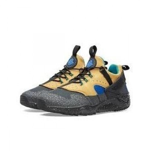 Кроссовки Nike Air Huarache Utility Grey/Yellow (Е-712)